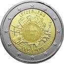 Luxemburg 2 Euro Gedenkmünze 2012 ST 10 Jahre Euro...