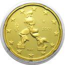 Italien 20 Cent Kursmünze 2009 PP aus KMS Proof