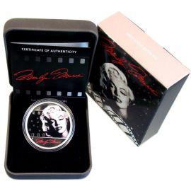 Tuvalu 1 Dollar 2012 PP Marilyn Monroe Silber im Etui Proof Zertifikat