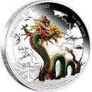 Tuvalu 1 Dollar 2012 PP Chinesicher Drachen Silber Proof...