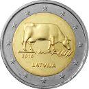 Lettland 2 Euro Gedenkmünze 2016 ST Milchwirschaft...