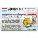 Luxemburg Münzkarte für 2 Euro 2012 - 100....