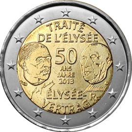 Frankreich 2 Euro Gedenkmünze 2013 ST 50 Jahre Elysee Vertrag lose
