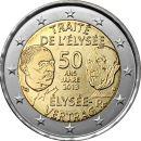 Frankreich 2 Euro Gedenkmünze 2013 ST 50 Jahre...