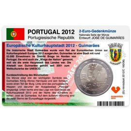 Portugal Münzkarte für 2 Euro 2012 Guimarães