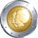 Niederlande 2 Euro Gedenkmünze 2013 ST Thronwechsel...