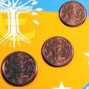 Frankreich 1 Cent, 2 Cent, 5 Cent 2006 ST aus KMS