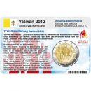Vatikan Münzkarte für 2 Euro 2012 VII....