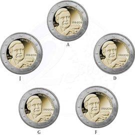 Deutschland 5 X 2 Euro Gedenkmünzen 2018 St Helmut Schmidt Im