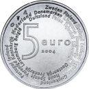 Niederlande 5 Euro Gedenkmünze 2004 ST EU...