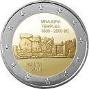 Malta 2 Euro Gedenkmünze 2018 UNC Mnajdra Temples lose