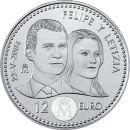 Spanien 12 Euro Gedenkmünze 2004 bfr Hochzeit von...