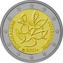 Finnland 2 Euro Gedenkmünze 2021 ST Journalismus lose