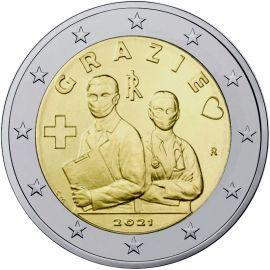 Italien 2 Euro Gedenkmünze 2021 UNC Grazie Gesundheitswesen lose