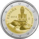 Spanien 2 Euro Gedenkmünze 2014 ST - Gaudi - Park...