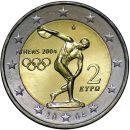 Griechenland 2 Euro Gedenkmünze 2004 ST Olympische...