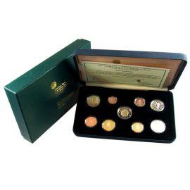 Irland KMS 2009 PP 1 Cent - 2 Euro und 2 Euro Gedenkmünze WWU EMU Etui