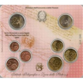 Italien KMS 2005 ST 1 Cent - 2 Euro im Folder