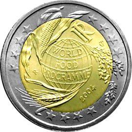 Italien 2 Euro Gedenkmünzen 2004 ST Welternährungsprogramm lose