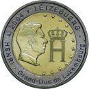 Luxemburg 2 Euro Gedenkmünze 2004 ST Monogramm...